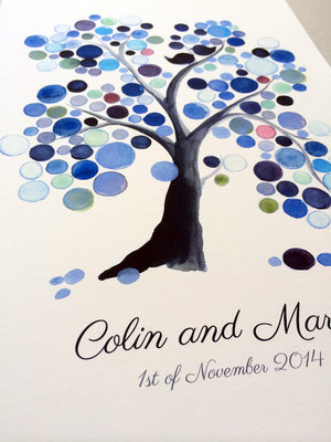 Watercolor Wedding Guest Book Tree WEEPING WILLOW TREE