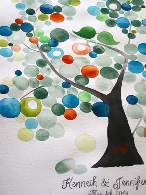 Wedding Guest Book Alternative VELVET ASH TREE