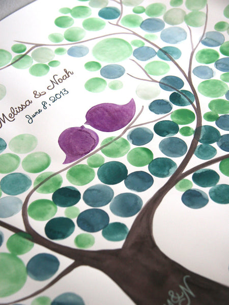 Rustic Wedding Guest Book SWEET CHESTNUT TREE - 200 Guest Signatures - Guestbook alternative wedding tree Art Print gift ideas