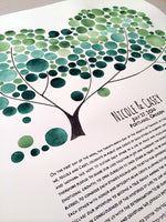 Load image into Gallery viewer, Modern Wedding Painted Ketubah - CHUPPAH TREE KETUBAH - The Bridal Canopy abstract marriage contract