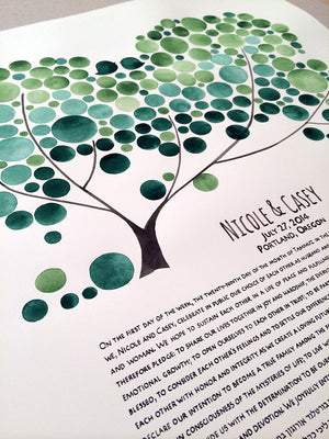 Modern Wedding Painted Ketubah - CHUPPAH TREE KETUBAH - The Bridal Canopy abstract marriage contract