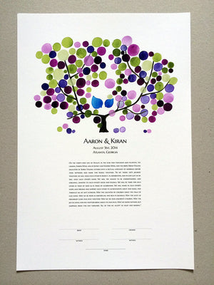 Modern Wedding Ketubah - Tree of Life marriage contract