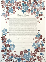 Load image into Gallery viewer, Modern Ketubah art print - Floral Branches
