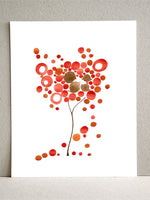 Load image into Gallery viewer, RED DROPPING TREE art print