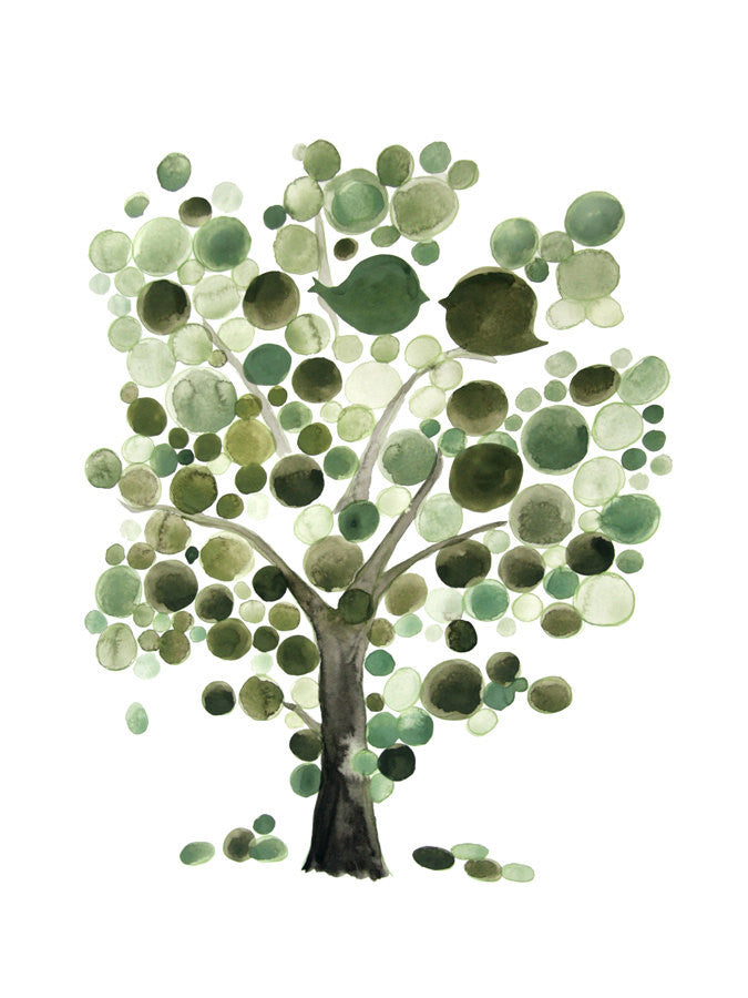 GREEN TREE OF LIFE art print
