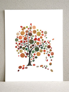 WINDY DAY FALL TREE art print