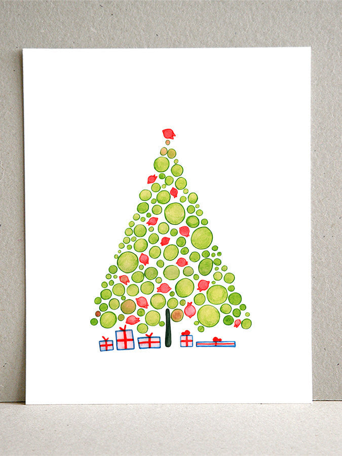 CHRISTMAS PRESENTS TREE art print