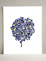 Load image into Gallery viewer, FIREFLY PURPLE TREE art print