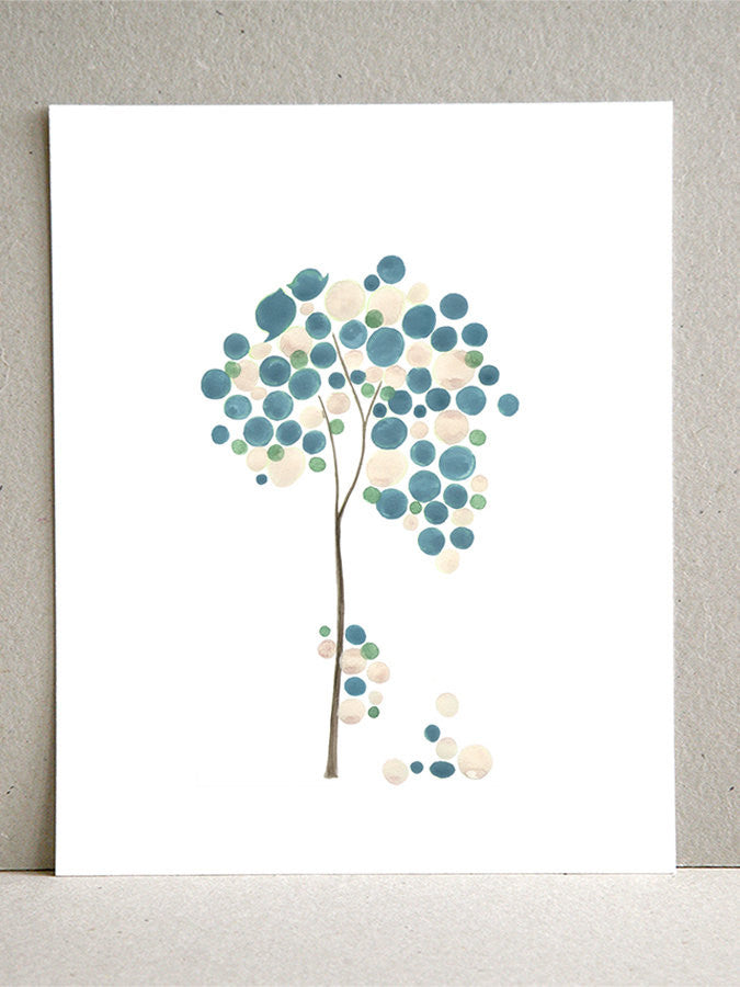 BLUE IVORY WEDDING art print