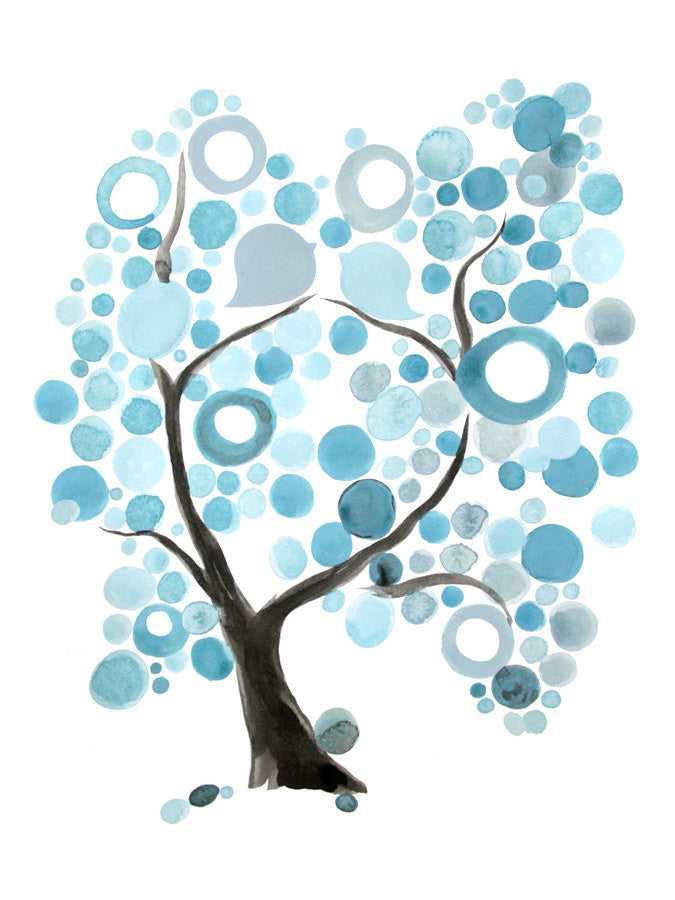 BLUE TREE OF LIFE art print