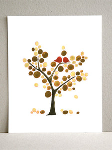 BROWNS UPTOWN LOVE BIRDS TREE OF LIFE  art print