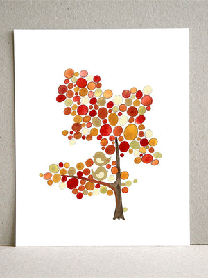 EAST WEST SONG TREE art print