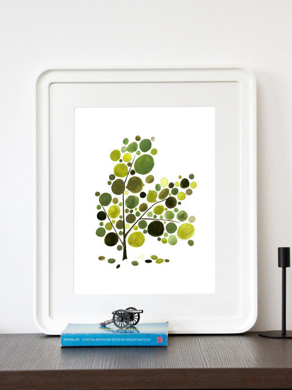 FATHER POEM TREE art print