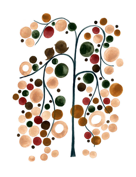 Wedding Gift Anniversary Gift - LAKE SIDE TREE - Giclee Art Print Reproduction of Watercolor Painting - Trees of Life Collection