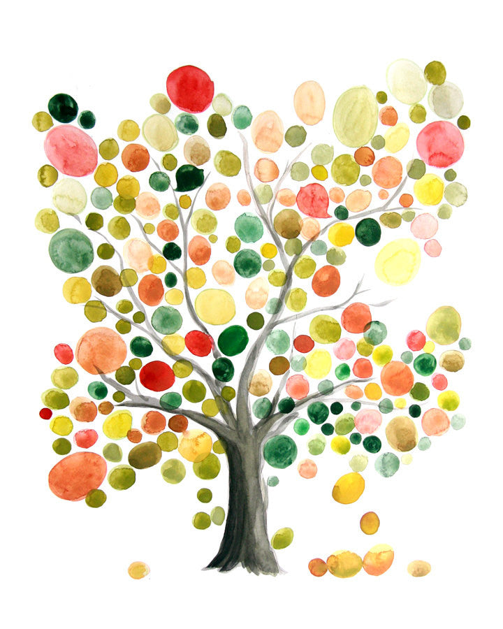 Wedding Gift Anniversary Gift - Master Tree of Life - Giclee Art Print Reproduction of Watercolor Painting - Trees of Life Collection