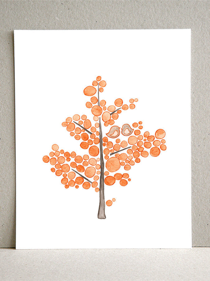 ORANGE COUNTY YOUNG TREE art print