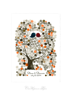 Wedding Guestbook art print - ISLAND-OAK-TREE gift