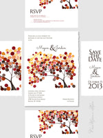 Load image into Gallery viewer, DIY Printable Custom Wedding Card Package - Save the Date, Wedding Invitations, RSVP, Thank You Cards