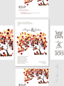DIY Printable Custom Wedding Card Package - Save the Date, Wedding Invitations, RSVP, Thank You Cards
