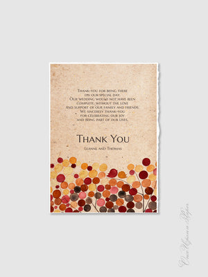 Thank You Card Design - DIY Printable Custom Wedding Thank you card