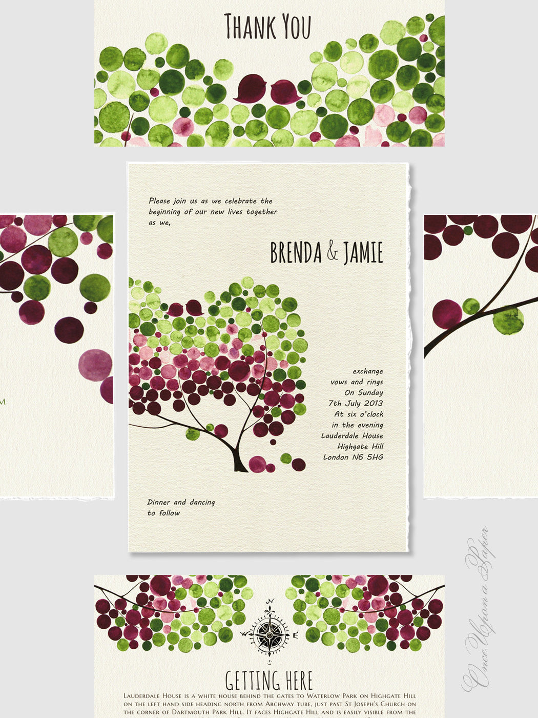 Wedding Invitation Design Package Printable - Save the Date, Wedding Invitations, RSVP, Thank You Cards