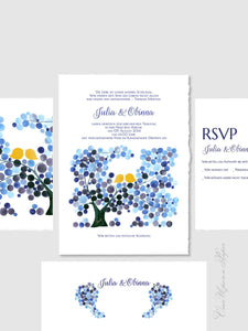 Wedding Invitation Package DIY Printable - Save the Date, Wedding Invitations, RSVP, Thank You Cards