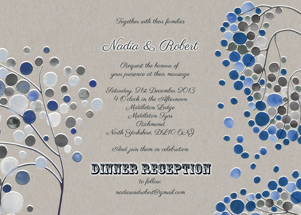 Printable Wedding Invitation Card Package - Save the Date, Wedding Invitations, RSVP, Thank You Cards - Wedding Invitation Cards