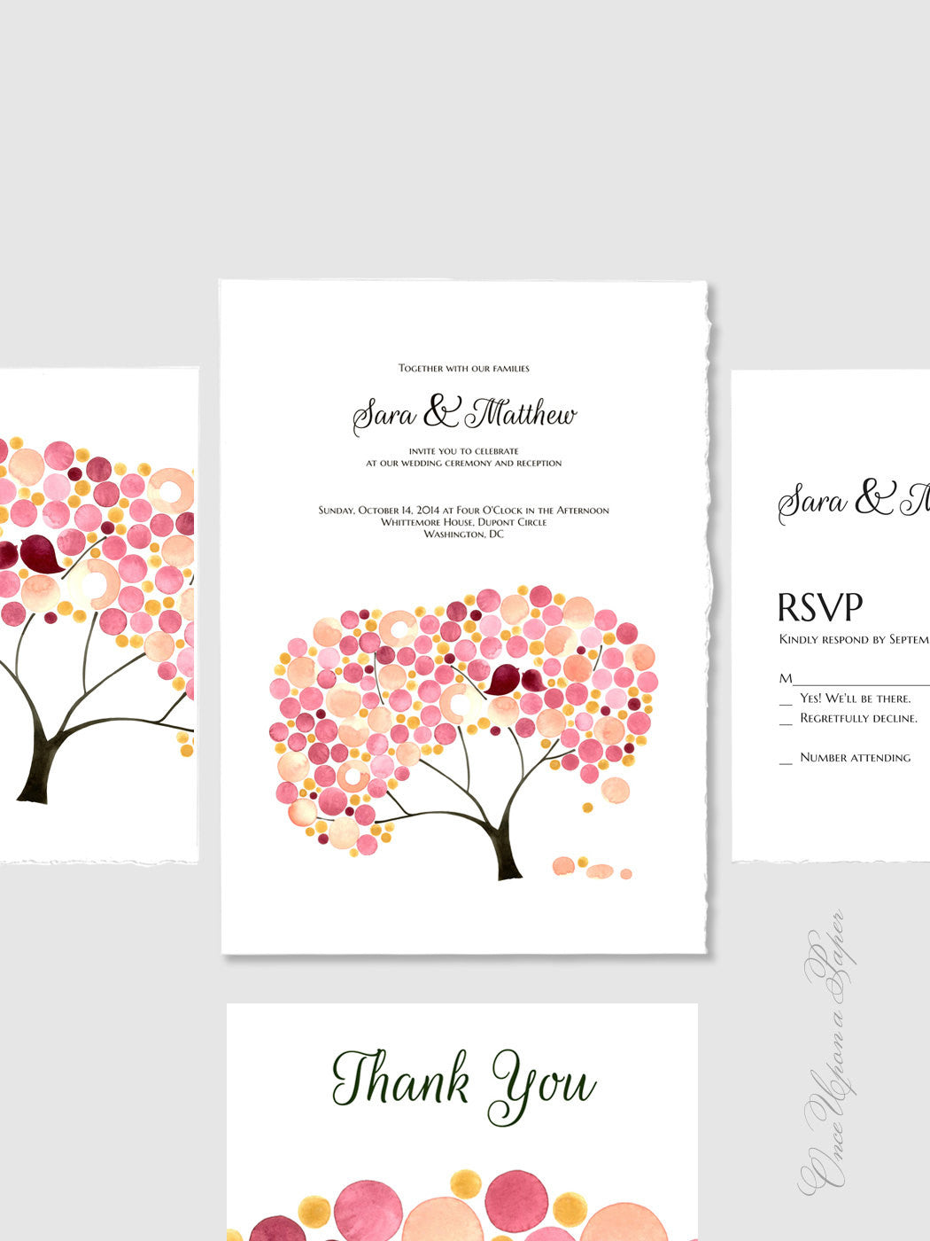 Wedding Suite Package DIY Printable - Save the Date, Wedding Invitations, Thank You Cards - Wedding Invitations, Anniversary Invitations