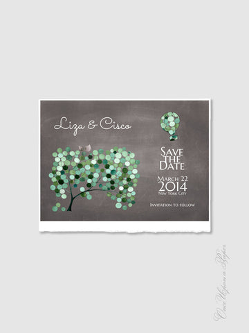 Wedding Save the Date Card Design - DIY Printable Custom Wedding Invitations