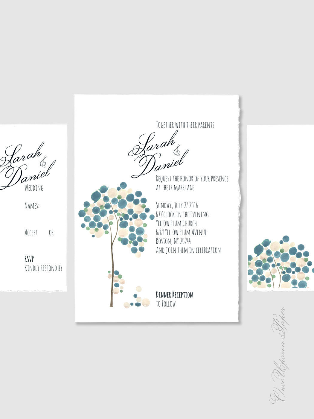 Custom Wedding Suite Package Printable - Save the Date, Wedding Invitations, RSVP, Thank You Cards