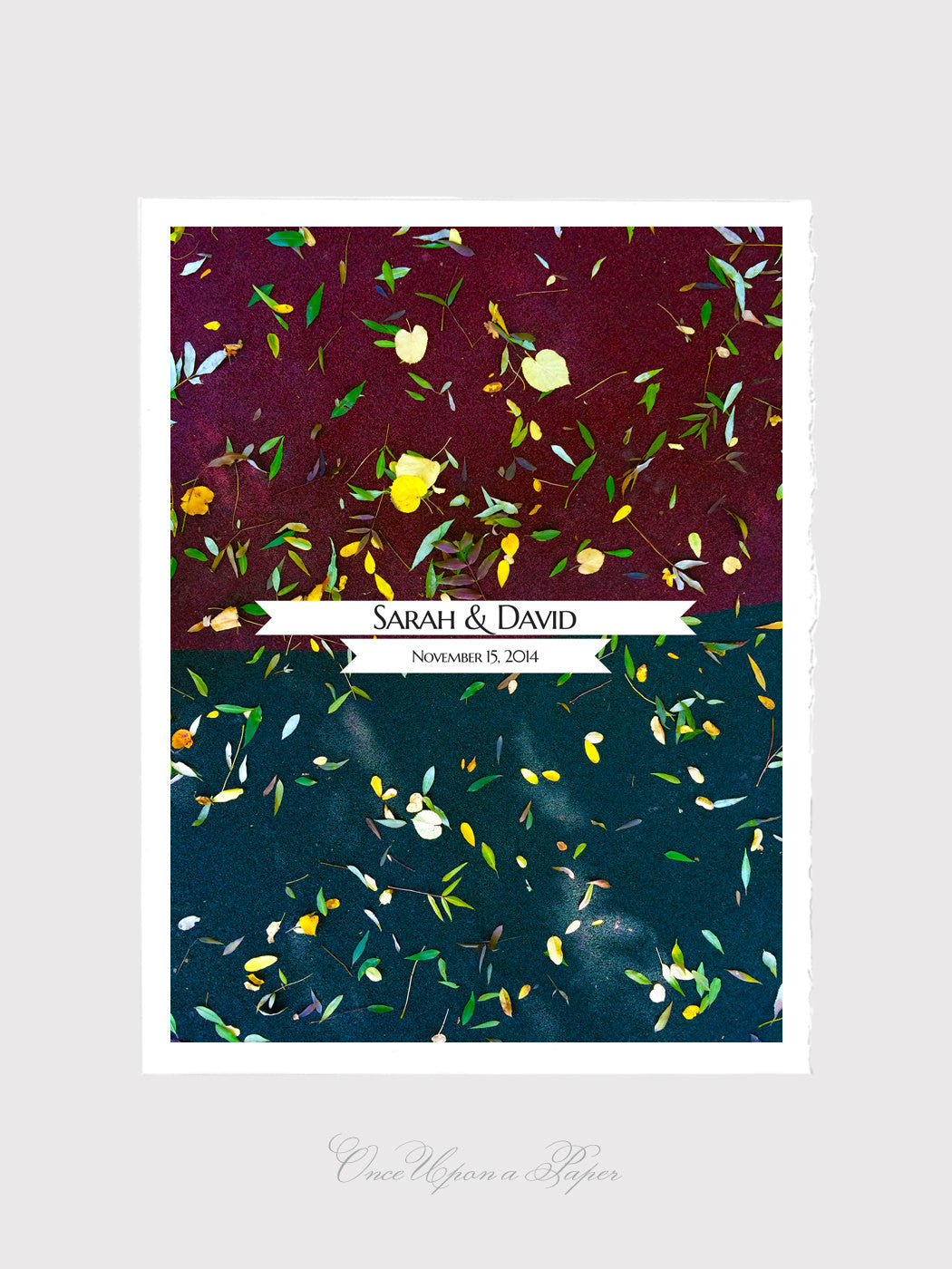 Fall Wedding Guest Book Alternative art Print - FALL HORIZON