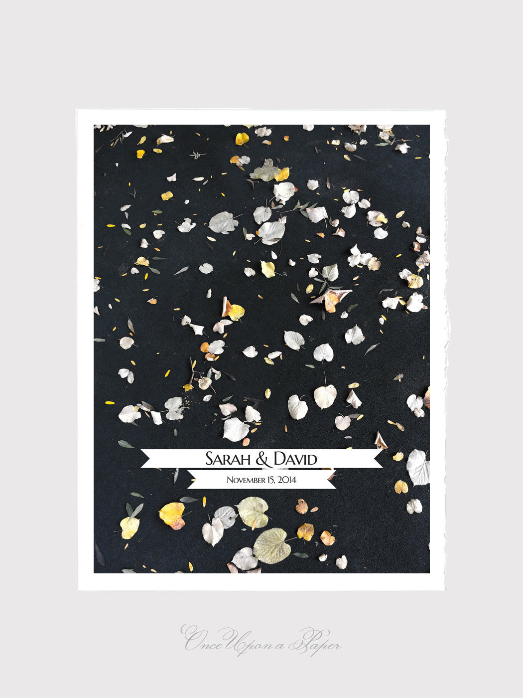 Wedding Guest Book Alternative Print - GOLDEN FALL WEDDING - 30 - 125 signature spots Guest Signatures - Modern Guestbook Poster - sign on