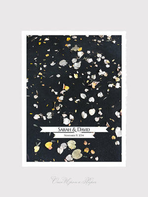 Wedding Guest Book Print - GOLDEN FALL WEDDING