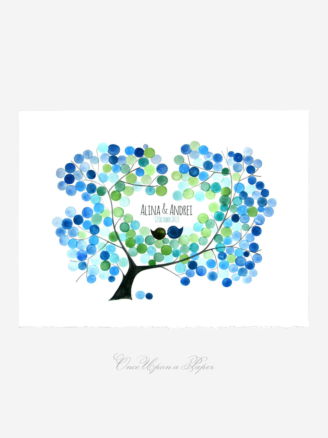 Wedding Guest Book AMUR MAPLE TREE guestbook print - 200 Guest Signatures - Alternative Guest Book wedding tree Art Print gift ideas