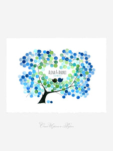 Wedding Guest Book AMUR MAPLE TREE