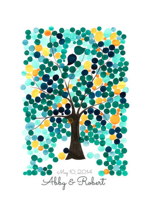 Wedding Tree Guest Book Alternative art print - ANGEL OAK TREE