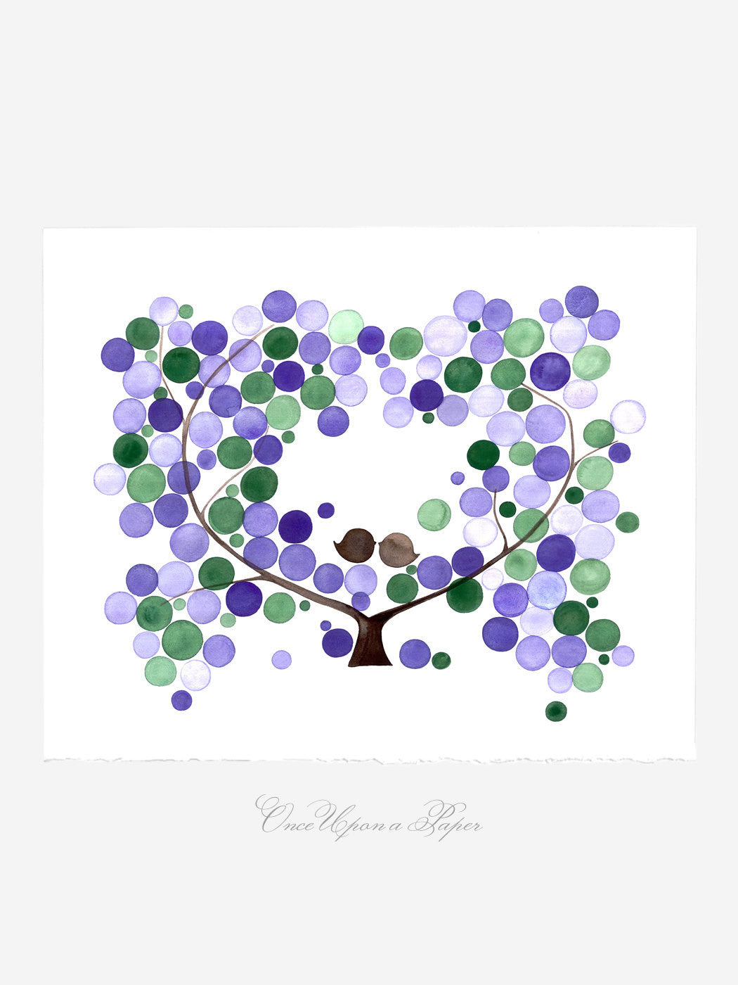 Wall art - AMERICAN PLUM TREE - Giclee Art Print Reproduction of Watercolor Painting - Trees of Life Collection