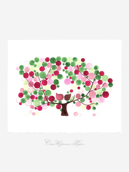 Wall art - APPLE TREE BLOOM - Giclee Art Print Reproduction of Watercolor Painting - Trees of Life Collection