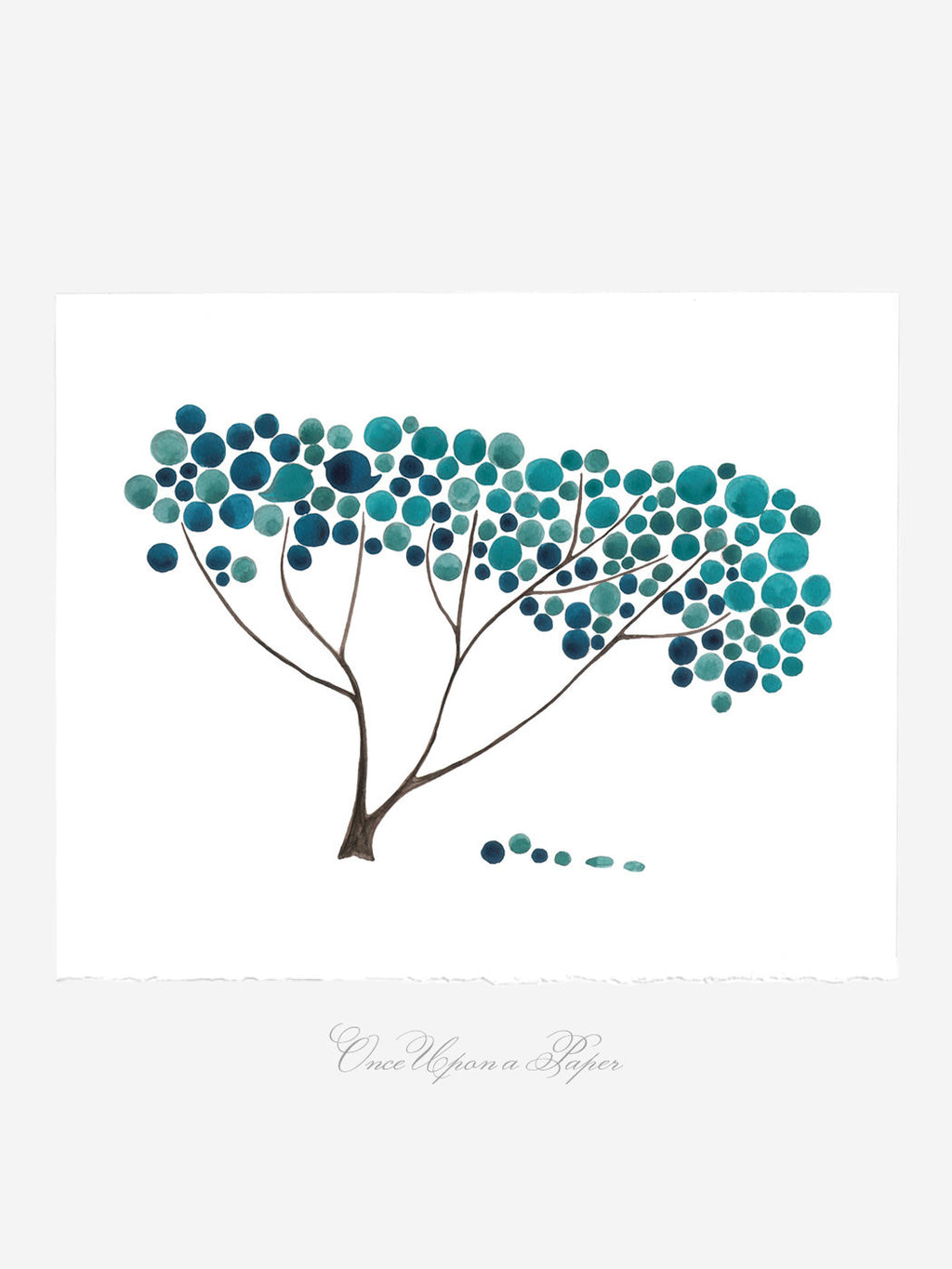 BLUE SAFARI TREE art print