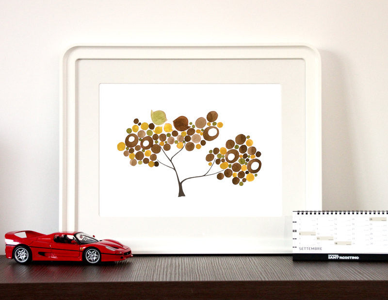 BROWNS FAMILY TREE art print