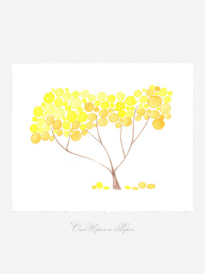 LEMON SAFARI TREE art print