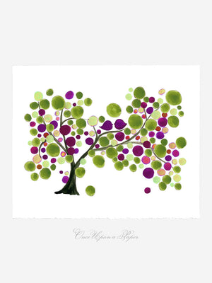 MOTHER DAUGHTER RICH TREE art print