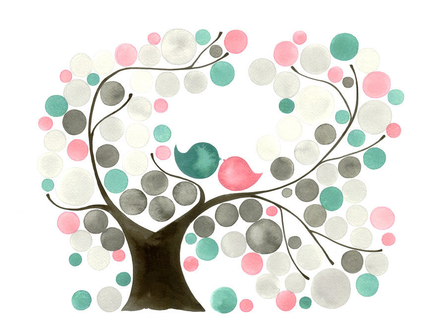OVAL GARDEN TREE art print