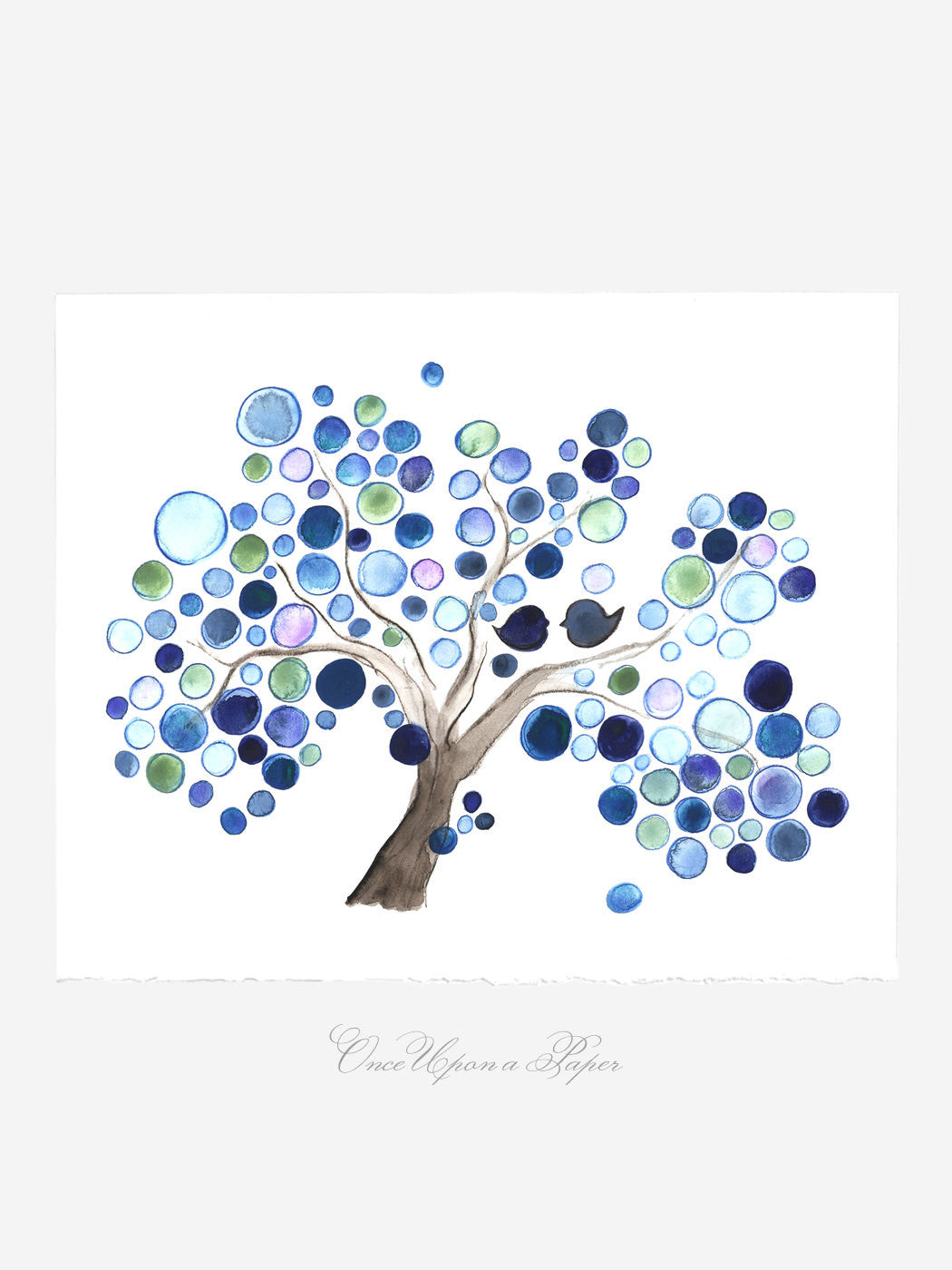Annyversary Gift - Rain Tree - Giclee Art Print Reproduction of Watercolor Painting -Trees of Life Collection