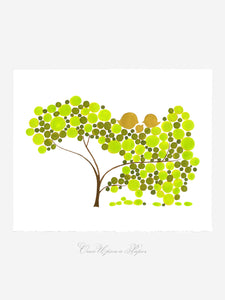 TOUCH DOWN TREE art print
