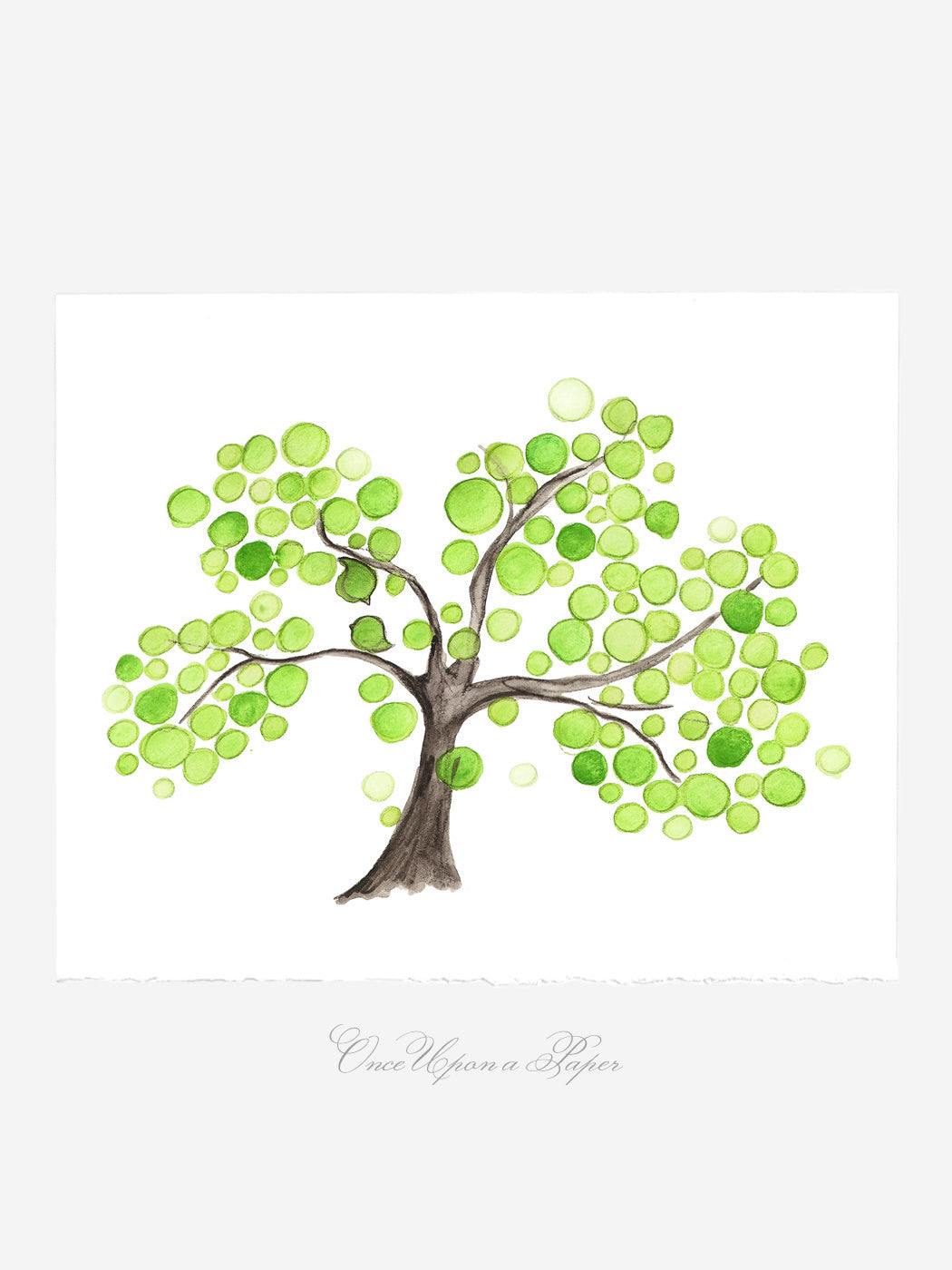 Wedding Gift Anniversary Gift - Brotherhood Tree - Giclee Art Print Reproduction of Watercolor Painting -Trees of Life Collection