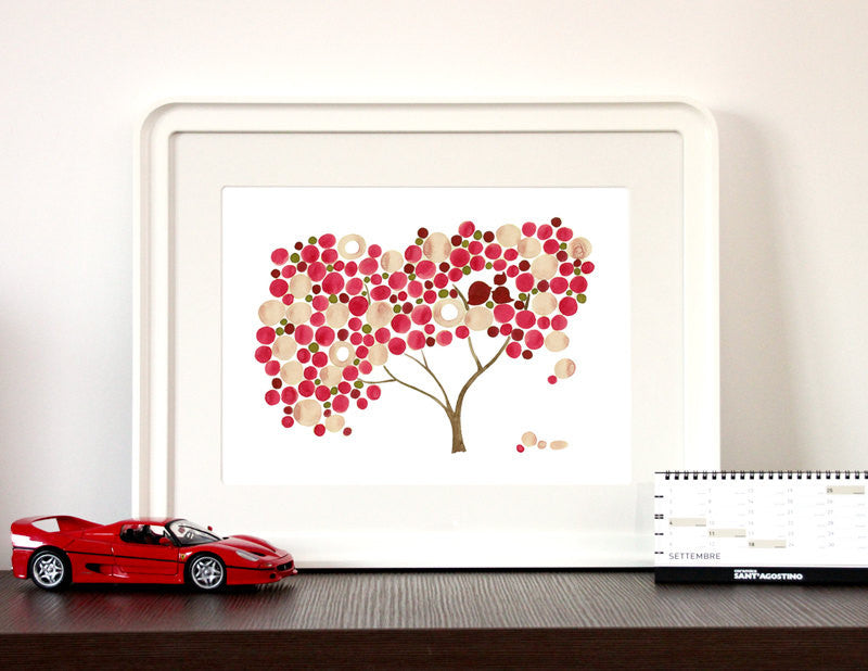 Wedding Gift Anniversary Gift - CHERRY BLOSSOM TREE - Giclee Art Print Reproduction of Watercolor Painting -Trees of Life Collection