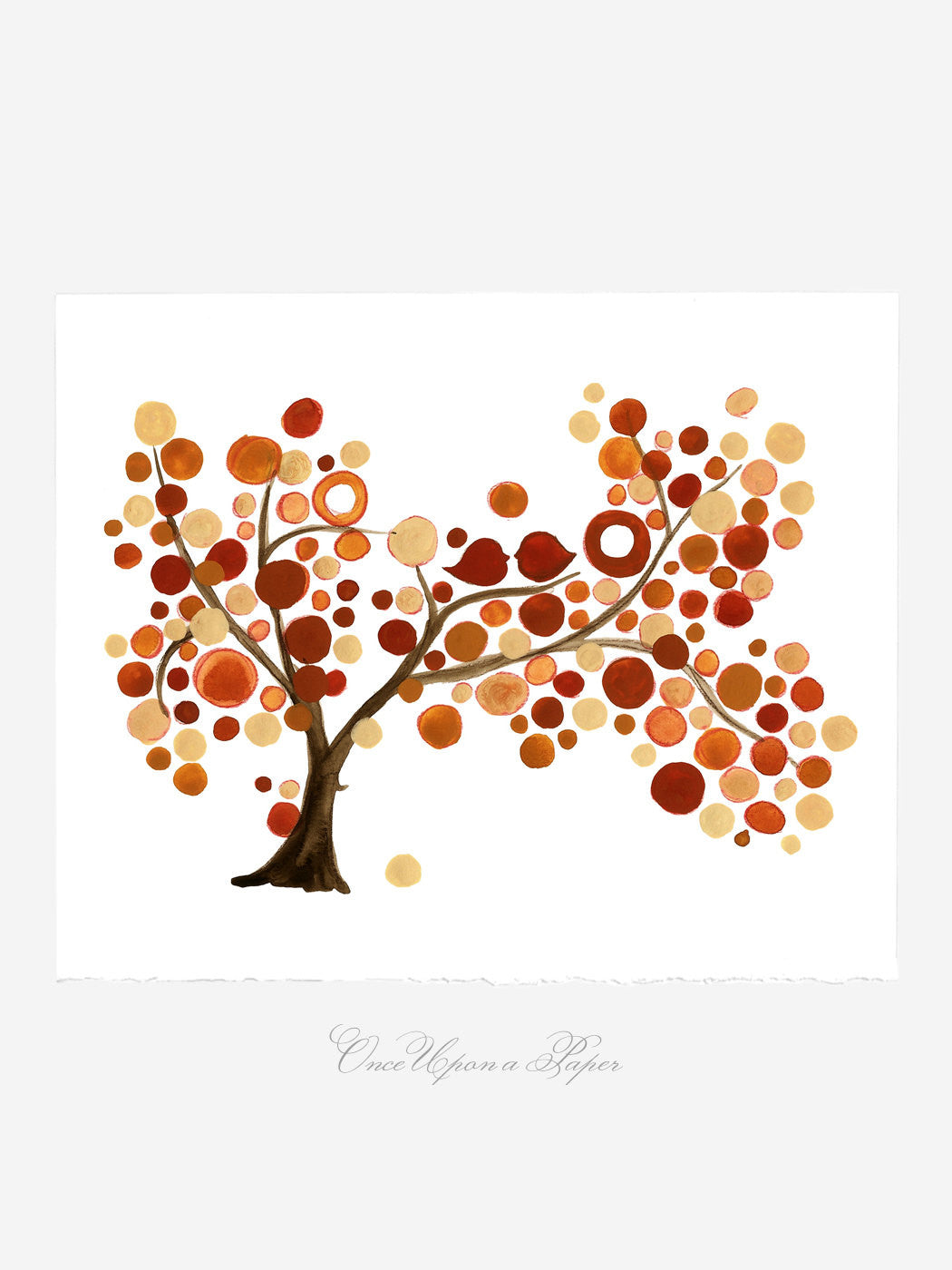 Mother Day Annyversary Gift - Mother Daughter Tree - Giclee Art Print Reproduction of Watercolor Painting -Trees of Life Collection
