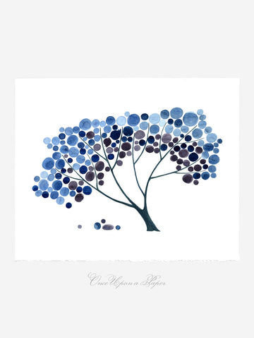 Annyversary Gift - TREE SHADE NAP - Giclee Art Print Reproduction of Watercolor Painting -Trees of Life Collection