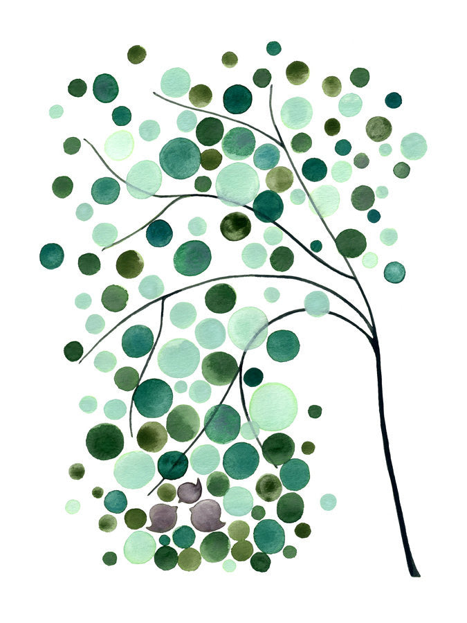Inspirational art print - Giclee Art Print Reproduction of Watercolor Painting - WEST FAMILY TREE - Trees of Life Collection